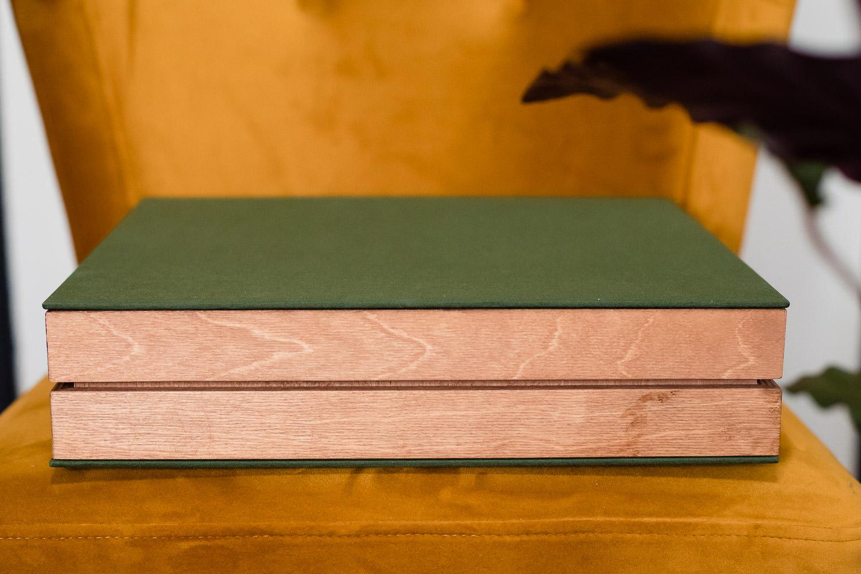 Luxe trouwalbum met groene bekleding