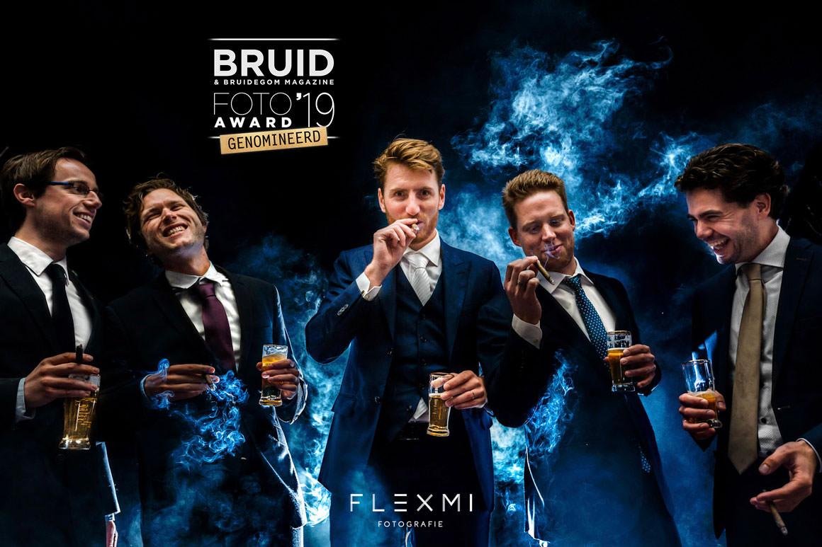Bruidegom sigaren foto genomineerd voor Bruid foto award