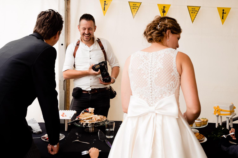 Sander van Mierlo aan het werk tijdens een bruiloft