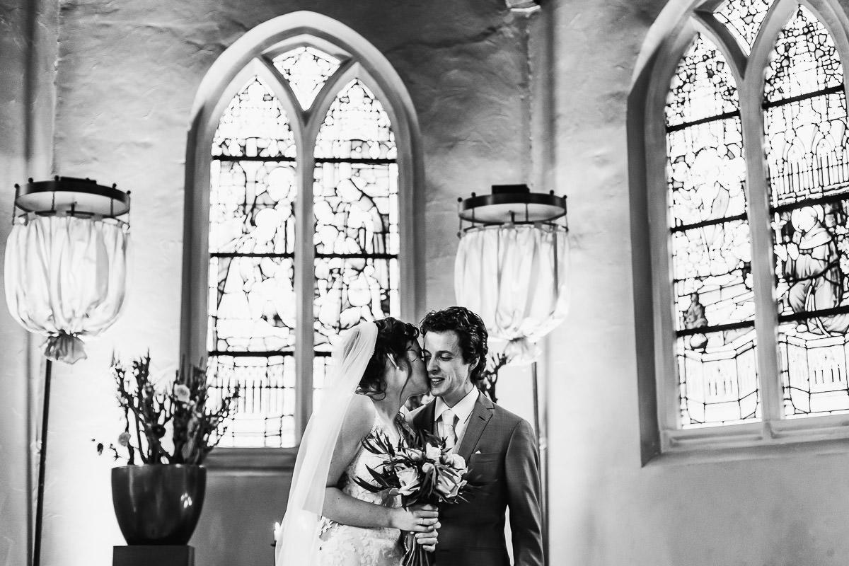 Bruid kust bruidegom